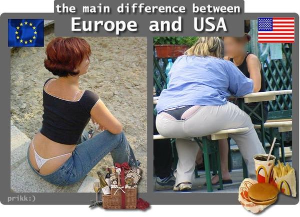 сша против европы